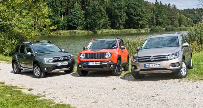 Vergleichstest Dacia Duster Vs Jeep Renegade Vs Vw Tiguan